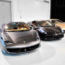 Drei Ferrari 458 Italia