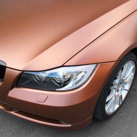 BMW 325i, vollständige Beklebung in bronze/metallic matt, inkl. Chromleisten