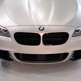 BMW 535d Touring, Komplettfolierung champagnermetallic/matt