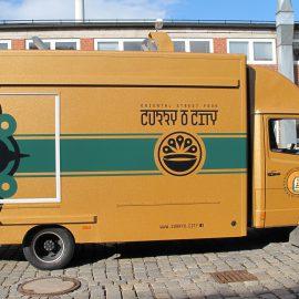 CurryO City Oriental Street Food Truck, voll folienbeschichtet
