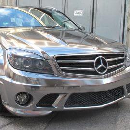 Mercedes AMG, Komplettfolierung, Schwarz Chrom