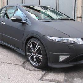 Honda Civic Type R - Komplettfolierung in Micro Carbon schwarz