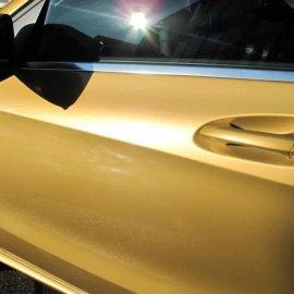 Mercedes-Benz A-Klasse, Komplettfolierung Goldmetallic