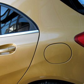 Mercedes-Benz A-Klasse, KomplettfolierMercedes-Benz A-Klasse, Komplettfolierung Goldmetallic