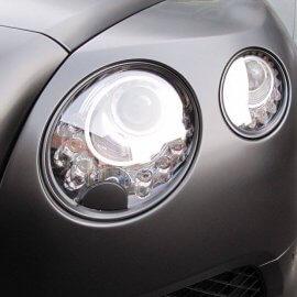 Bentley - Komplettfolierung, Schwarz Seidenmatt, Folierung Chromteile