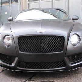 Bentley - Vollfolierung, Schwarz Seidenmatt, Folierung Chromteile