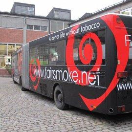 Bus - Komplettfolierung, Schwarz Matt, Branding