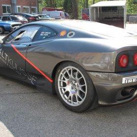 Ferrari, Komplettfolierung, Charcoal Metallic, Branding