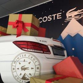 E-Klasse mit Lacoste-Werbefolierung (Adventskalender 2015)